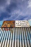 Mexico - Tijuana - The wall of shame. The firs wall near Mexico Stock Photos