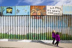 Mexico - Tijuana - The wall of shame. Daily life near the firs wall of Mexico Royalty Free Stock Photography