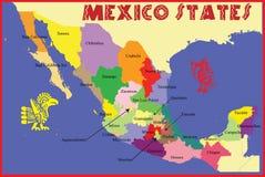 mexico tillstånd royaltyfri illustrationer