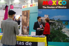 Mexico Tourism Board at TT Warsaw. WARSAW - SEPTEMBER 23: Mexico Tourism Board exhibition at the Travel Trade Fair TT Warsaw September 23, 2010 in Warsaw, Poland royalty free stock photography