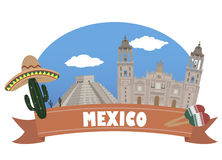 Mexico. Tourism and travel. For you design Stock Photos