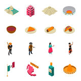 Mexico Touristic Attractions Isometric Icons Collection Royalty Free Stock Images