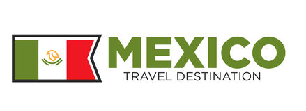 Mexico travel destination banner Royalty Free Stock Image