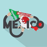Mexico Typography Design. Stock Image