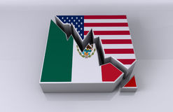 Mexico and USA business relations Royalty Free Stock Images