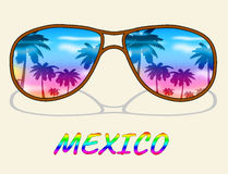 Mexico Vacation Means Time Off And Cancun vector illustration