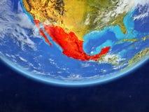 Mexico van ruimte ter wereld royalty-vrije illustratie