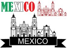 Mexico. Vector illustration (EPS 10 Stock Photography