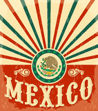 Mexico vintage patriotic poster Stock Photography