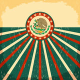 Mexico vintage patriotic poster - card vector design Royalty Free Stock Photos