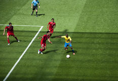 Mexico Vs Gabon in the 2012 London olympics Stock Images