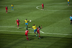 Mexico Vs Gabon in the 2012 London olympics Royalty Free Stock Photo