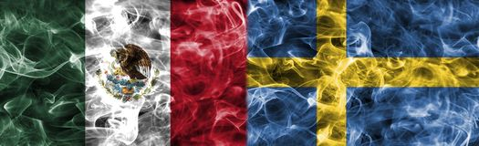 Mexico vs Sweden smoke flag, group F, football world cup 2018, M. Oscow, Russia Stock Image