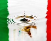 Mexico Water drip close macro flag of country stock photography