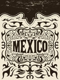 Mexico western elements set - mexican holiday. Vector poster - Grunge effects can be easily removed Royalty Free Stock Image