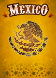 Mexico western style poster. Grunge paper texture Royalty Free Stock Photos