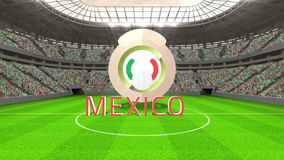 Mexico world cup message with badge and text stock video