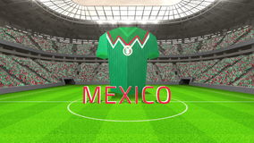 Mexico world cup message with jersey and text stock footage
