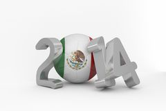 Mexico world cup 2014. On white background Stock Photos