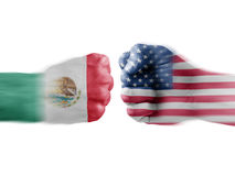 Mexico x usa Royalty Free Stock Image