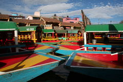 mexico xochimilco Arkivbild