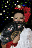 Mexico young lady, folklore dancers stock photography