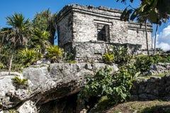 Mexico yucatan Tulum maya ruins Royalty Free Stock Image