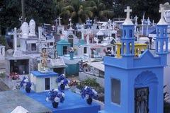 MEXICO YUCATAN VALLADOLID KYRKOGÅRD royaltyfri fotografi