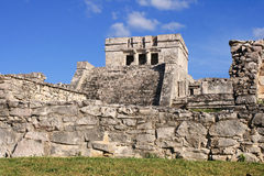 MexicoTulum ruined Mayan temple stock photography