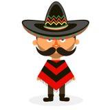Mexikan i en sombrero Royaltyfri Foto