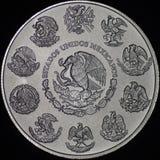Mexikan Libertad Silver Coin (vända om), Fotografering för Bildbyråer