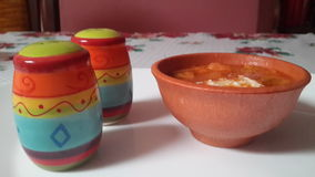 Mexikan Sopa Azteca Arkivfoto