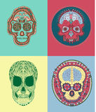 Mexikan Sugar Skull Arkivfoto