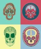 Mexikan Sugar Skull Royaltyfri Bild