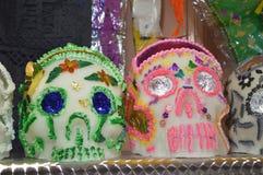 Mexikan Sugar Skulls 2 Arkivbilder