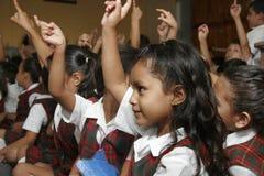 Mexikanen skolar barn Arkivfoton