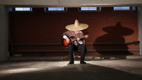 Mexikanen spelar gitarrgeneralplanen lager videofilmer