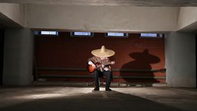 Mexikanen spelar gitarrgeneralplanen arkivfilmer