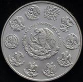 Mexikaner Libertad Silver Coin 1 Unze Lizenzfreie Stockbilder