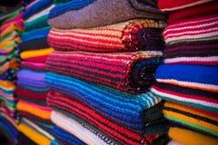 Mexikaner Serape-Decken Stockfoto