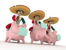 Mexikaner von einem Sombrero Stockfoto
