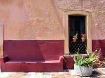 Mexikanische Architektur: Fenster a Stockbild