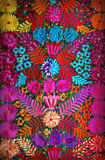 Mexikanische Blumenstickerei stockfotos