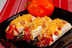 Mexikanische Burritos Lizenzfreie Stockbilder