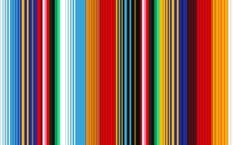 Mexikanische Decke streift nahtloses Vektor-Muster lizenzfreie abbildung
