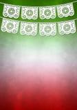 Mexikanische Dekorationsplakatschablone - kopieren Sie Raum Lizenzfreie Stockbilder