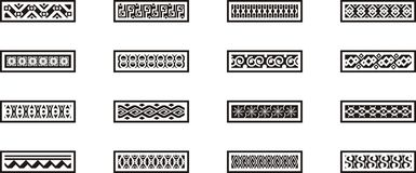 Mexikanische dekorative Ränder Stockbild