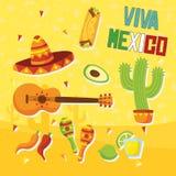 Mexikanische Elemente Stockfotografie