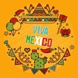Mexikanische Elemente Stockfoto