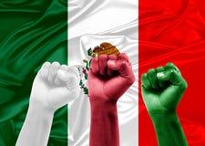 Mexikanische Fans Stockfotos